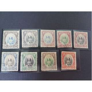 Set of 9_1937_Kedah_Sultan Abdul Hamid Halimshah_Used