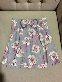 Pink Flowery Mini Skirt