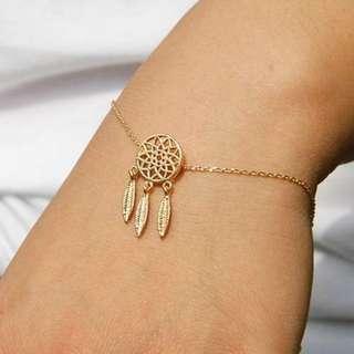 Dreamcatcher Simple Bracelet - Gold