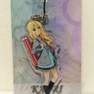 Your Lie in April Cell Phone Charm Acrylic Strap Kaori Miyazono ver2.