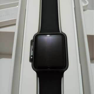 BARU Apple Watch Series 1 42mm Space Gray with Black Sport Band