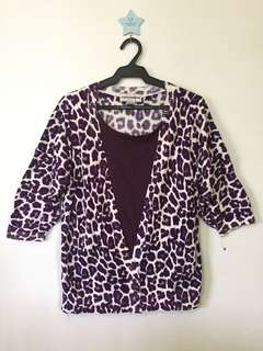 Violet animal print with inner