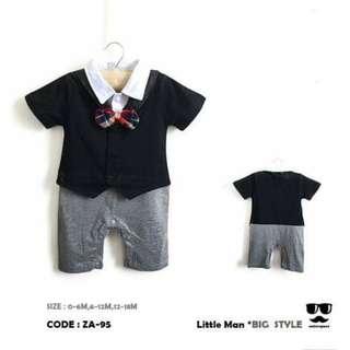 Baby Tuxedo Gentlemen romper
