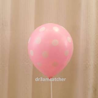 Pink / Blue balloons with polka dots
