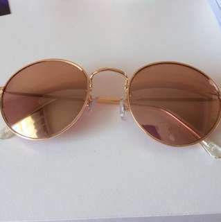 H&M Rose Gold Mirrored Sunnies