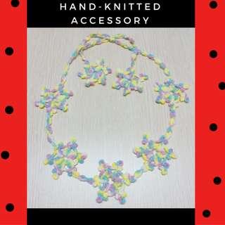 手織繽紛雪花配飾