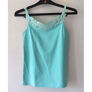 Green Lace Tank Top