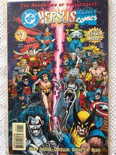 DC  versus Marvel Comics #1 Signed Copy