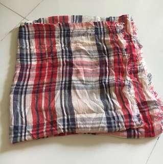 Red checkered shawl