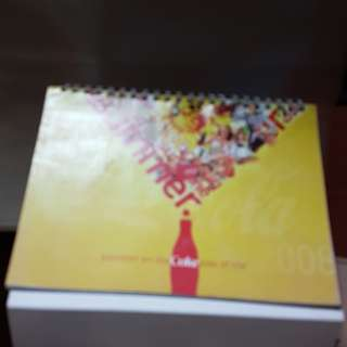 #0329- 2008 coca cola coke desk calendar