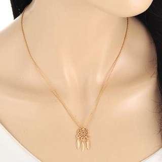 Dreamcatcher Simple Necklace - Gold