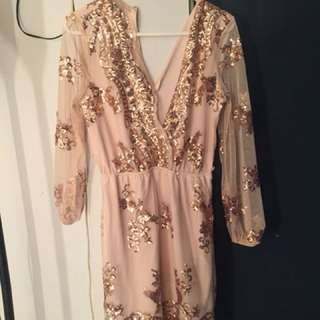 Popcherry Rose Gold Dress never worn