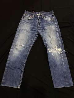 Levis oldskul ripped jeans