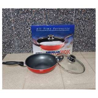 All Time Favourite American Wok Pan USA Panci Super Bagus 28cm