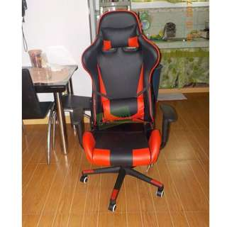 GMC-8152 GAMING CHAIR RED  BLACK WITH CASTER--KHOMI