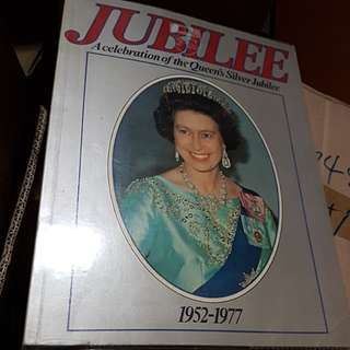 #0329 - Silver Jubilee celebration Book - Queen Elizabeth
