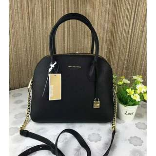 Michael Kors Mercer Dome Satchel Tote Black