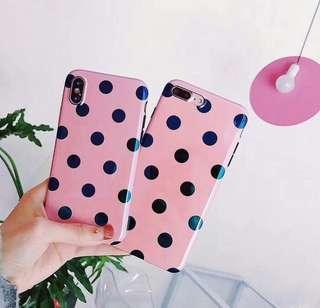 Polkadot pink case