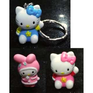 2001,2006年 吊飾/匙扣/小裝飾 Hello Kitty, Melody - Sanrio