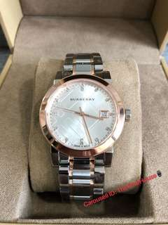 Burberry BU9127 Silver Dial Two-Tone Ladies Watch