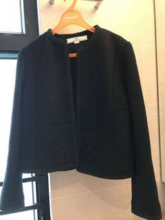 Black Jacket with embroidery黑短褸附有銹花