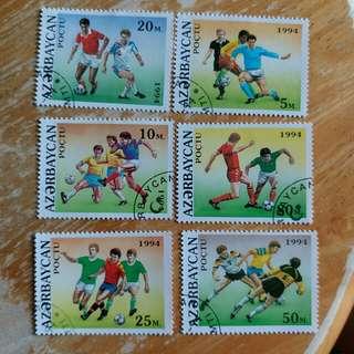 1994年足球已銷郵票六枚