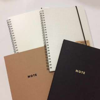 Muji Inspired Notebooks | A5 Dotted & Grid