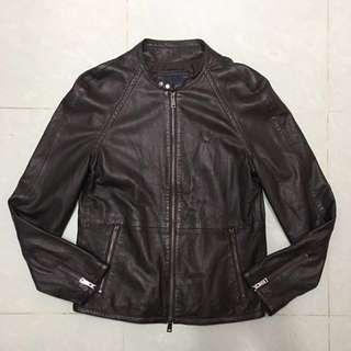 ARMANI JEANS men's lamb leather jacket 男裝真皮皮褸