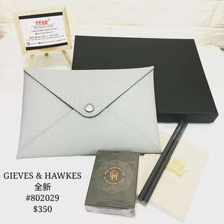 GIEVES & HAWKES clutch & stationery set 全新