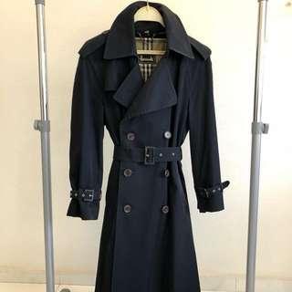 Women's Trench Coat Harrods Navy Blue