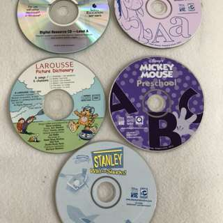 Children's Interactive CD Disney titles and others x 5