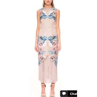 """Keepsake the label """"the other side"""" midi dress."""