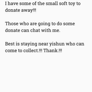 Donate soft toy!!!