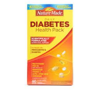 NATURE MADE DAILY DIABETES HEALTH PACK (30 PACKETS) USA - COD FREE SHIPPING