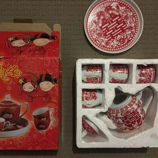 Chinese wedding tea set