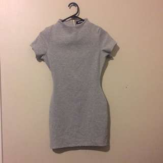 Grey bodycon dress