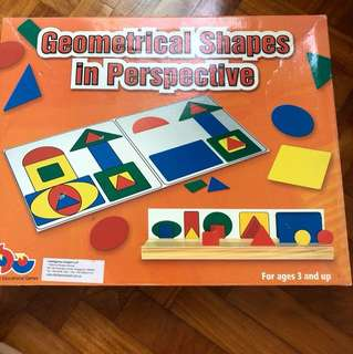 Educational Toy Geometrical shapes in Perspective