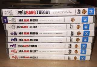 Big Bang Theory seasons 1-8 DVD