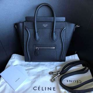 Genuine Celine Luggage Nano