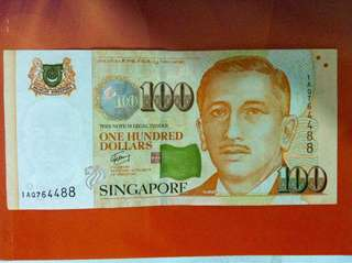 Currency 🇸🇬Singapore: Sgd100 note