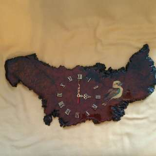 Varnished Wood Base clock Australia