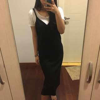 Black Overall/ Dress