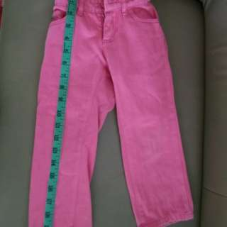 Pink jeans for  2-3 years