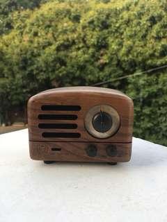 復古木質藍芽喇叭音箱收音機speaker
