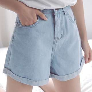 [BN INSTOCK] High Waisted Denim Shorts