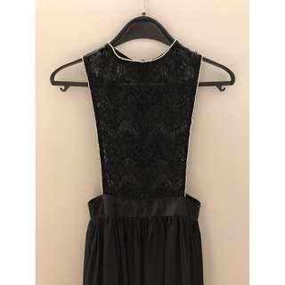 Black Lace Vest Dress / Gown / Evening Party