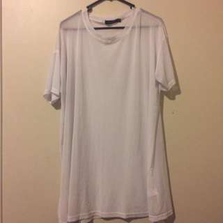 Oversized mesh shirt