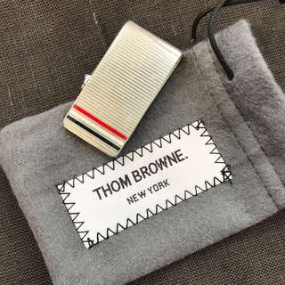 Thom Browne Money Clip in silver and Tri-color