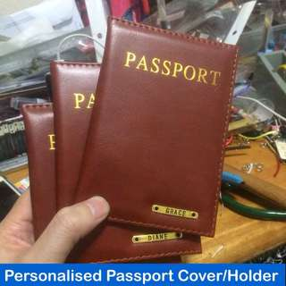 Personalised Passport Covers / Holders [faux leather customised gifts handmade uncle.anthony uncle anthony uac] FOR MORE PICTURES & DETAILS, GO HERE: 👉  http://carousell.com/p/151158092