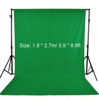 GREEN SCREEN 1.8M X 2.7M (Black white available)
